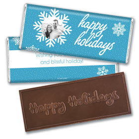 Personalized Christmas Wintry Wishes Embossed Chocolate Bar