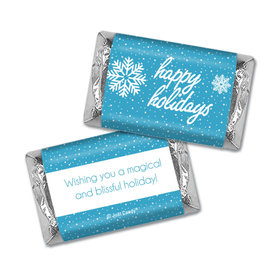Personalized Christmas Wintry Wishes Hershey's Miniatures