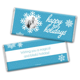 Personalized Christmas Wintry Wishes Chocolate Bars