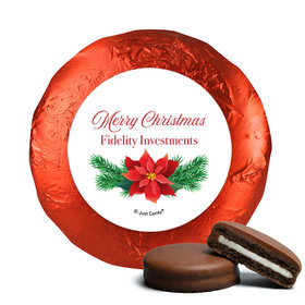 Personalized Christmas Poinsettia Chocolate Covered Oreos