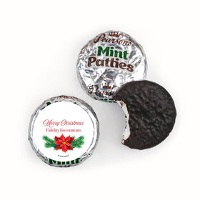 Personalized Christmas Poinsettia Pearson's Mint Patties