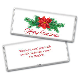 Personalized Holiday Poinsettia Chocolate Bars