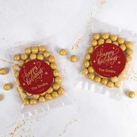 Personalized Christmas Candy Bag with Sixlets - Happy Holidays