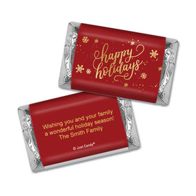 Personalized Happy Holidays Hershey's Miniatures Wrappers