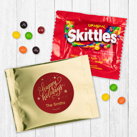 Personalized Christmas Happy Holidays - Skittles