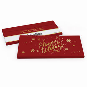 Deluxe Personalized Happy Holidays Add Your Logo Candy Bar Cover