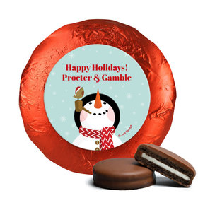 Personalized Happy Holidays Snowman Chocolate Covered Oreos