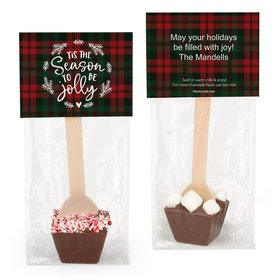 Personalized Christmas Tis the Season Hot Chocolate Spoon