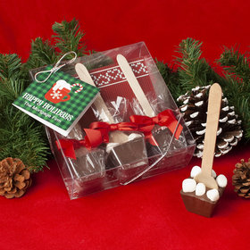 Personalized Happy Holidays Plaid Hot Coco Hot Chocolate Spoon 3pk