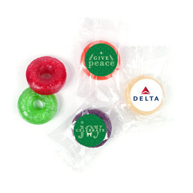 Personalized Christmas Spread Cheer Add Your Logo Life Savers 5 Flavor Hard Candy