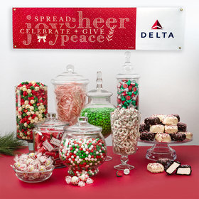 Personalized Season of Joy Add Your Logo Deluxe Candy Buffet