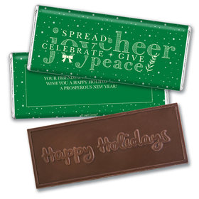 Personalized Christmas Spread Cheer Embossed Chocolate Bar