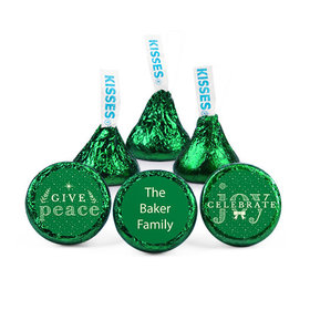 Personalized Christmas Spread Cheer Hershey's Kisses (50 pack)