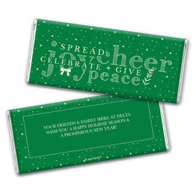 Personalized Christmas Spread Cheer Chocolate Bars