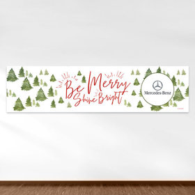 Personalized Christmas Be Merry Shine Bright Add Your Logo 5 Ft. Banner
