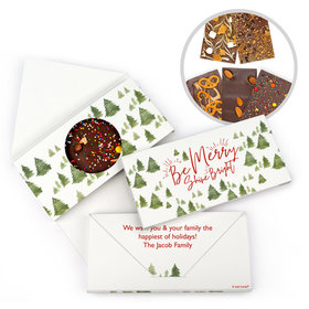 Personalized Christmas Be Merry Shine Bright Gourmet Infused Belgian Chocolate Bars (3.5oz)