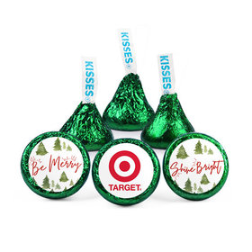 Personalized Christmas Be Merry Shine Bright Add Your Logo Hershey's Kisses (50 pack)