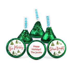 Personalized Christmas Be Merry Shine Bright Hershey's Kisses (50 pack)