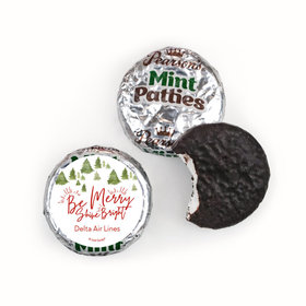 Personalized Christmas Be Merry Shine Bright Pearson's Mint Patties