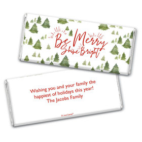 Personalized Christmas Be Merry Shine Bright Chocolate Bars