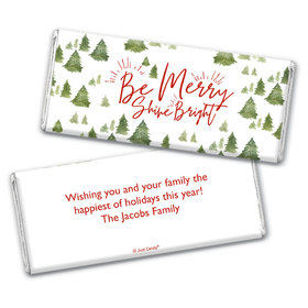 Personalized Christmas Be Merry Shine Bright Chocolate Bar Wrappers Only