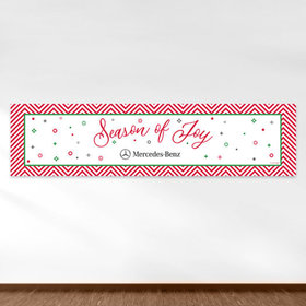 Personalized Christmas Season of Joy Add Your Logo 5 Ft. Banner