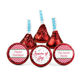 Personalized Christmas Season of Joy Hershey's Kisses (50 pack)