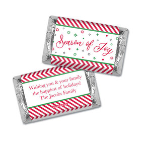 Personalized Christmas Season of Joy Hershey's Miniatures Wrappers