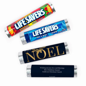 Personalized Christmas First Noel Lifesavers Rolls (20 Rolls)