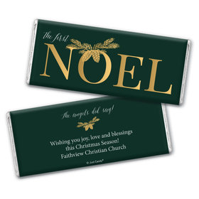 Personalized Christmas First Noel Chocolate Bars