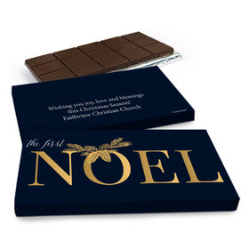 Deluxe Personalized First Noel Christmas Chocolate Bar in Gift Box (3oz Bar)