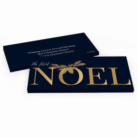 Deluxe Personalized First Noel Christmas Candy Bar Cover