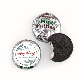Personalized Christmas Geometric Holiday Pearson's Mint Patties