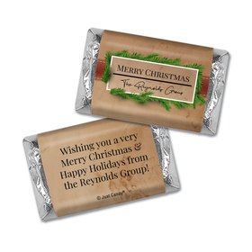Personalized Christmas Brown Paper Package Hershey's Miniatures Wrappers