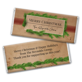 Personalized Christmas Brown Paper Packages Chocolate Bar Wrappers Only