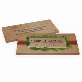 Deluxe Personalized Brown Paper Packages Christmas Chocolate Bar in Gift Box