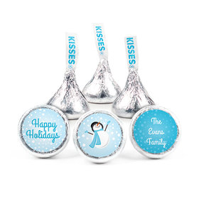 Personalized Christmas Catching Snowflakes Hershey's Kisses (50 pack)