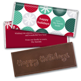 Personalized Christmas Festive Ornaments Embossed Chocolate Bar