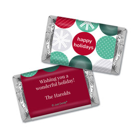 Personalized Christmas Festive Ornaments Hershey's Miniatures
