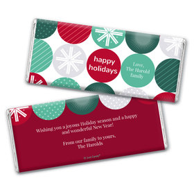 Personalized Christmas Festive Ornaments Chocolate Bar Wrappers Only