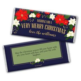 Personalized Christmas Garland Chocolate Bar Wrappers Only