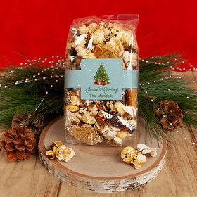 Personalized Christmas Season's Greetings Trendy Trash Popcorn 8 oz Bags