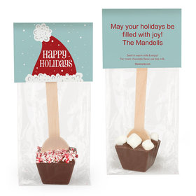 Personalized Happy Holidays Santa Hot Chocolate Spoon