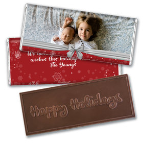 Personalized Christmas Welcoming Joy Embossed Chocolate Bar