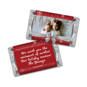 Personalized Christmas Welcoming Joy Hershey's Miniatures Wrappers