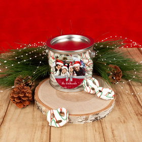 Personalized Happy Holidays Photo Paint Can with Holiday Yogurt Pretzels