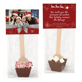 Personalized Happy Holidays Photo Hot Chocolate Spoon