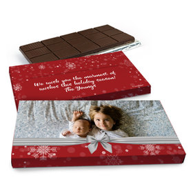 Deluxe Personalized Christmas Welcoming Joy Chocolate Bar in Gift Box (3oz Bar)