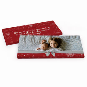 Deluxe Personalized Christmas Welcoming Joy Chocolate Bar in Gift Box