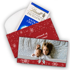 Deluxe Personalized Christmas Welcoming Joy Lindt Chocolate Bar in Gift Box (3.5oz)